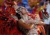 """Juliana Paes performs for the Viradouro Samba School parade during the """"Special group"""" parade in Rio de Janeiro, Brazil.(Australfoto/Douglas Engle)"""