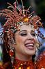 Brazilian actress Claudia Raia takes part of Beija Flor samba school parade at Sambadrome, Rio de Janeiro, Brazil, Feb. 7, 2005. (Austral Foto/Renzo Gostoli)