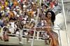 Brazilian actress Valeria Valena performs for the Imperio Serrano Samba School during carnival in Rio de Janeiro in 2001. (Australfoto/Douglas Engle)