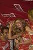 Brazilian Supermodel Giselle Bundchen celebrates in a celebrity booth at the sambodrome during carnival in Rio de Janeiro.<br /> (Australfoto/Douglas Engle)