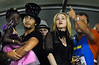 U.S. singer Madonna, center, attend the Carnival parade of samba schools with Rio de Janeiro Governor Sergio Cabral, right, her daughter Marcy, left, and boyfriend Jesus Luz at the Sambadrome, Rio de Janeiro, Brazil, February 14, 2010. (Austral Foto/Renzo Gostoli)