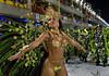 A dancer from Unidos da Tijuca samba school performs at the Sambadrome during the samba school parade in Rio de Janeiro, Brazil, February 14, 2010. (Austral Foto/Renzo Gostoli)