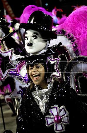 Members of Uniao da Ilha samba school perform at Sambadrome, Rio de Janeiro, Brazil , February 20, 2012. (Austral Foto/Renzo Gostoli)