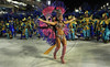 A samba dancer performs at the Sambadrome during the Sao Clemente samba school parade,  Rio de Janeiro, Brazil, February 11, 2013. (Austral Foto/Renzo Gostoli)