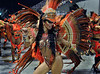 A dancer from Unidos do Grande Rio samba school performs at the Sambadrome during the samba school parade in Rio de Janeiro, Brazil, February 15, 2010. (Austral Foto/Renzo Gostoli)
