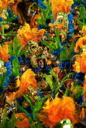 Members of Salgueiro samba school performs at Sambadrome during the Carnival samba school parade, Rio de Janeiro, Brazil , February 22, 2009.  (Austral Foto/Renzo Gostoli)