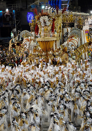 Salgueiro samba school parades at Sambadrome, Rio de Janeiro, Brazil, February 23, 2009. (Austral Foto/Renzo Gostoli)