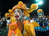 A dancer from Tuiuti samba school waits to perform at the Sambadrome during the samba school parade in Rio de Janeiro, Brazil, February 13, 2010. (Austral Foto/Renzo Gostoli)