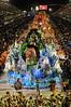 A float of Mangueira Samba School parades at the Sambadrome, Rio de Janeiro, Brazil, February 11, 2013. (Austral Foto/Renzo Gostoli)