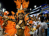 A samba dancer of Sao Clemente samba school performs during the Rio 2009 Carnival parade at Sambadrome,  Rio de Janeiro, Brazil, Feb. 21, 2009. (Austral Foto/Renzo Gostoli)