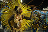 A samba dancer performs at the Sambadrome during the samba school parade,  Rio de Janeiro, Brazil, February 10, 2013. (Austral Foto/Renzo Gostoli)