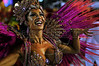 A dancer from a samba school performs at the Sambadrome during the samba school parade,  Rio de Janeiro, Brazil, February 8, 2013. (Austral Foto/Renzo Gostoli)