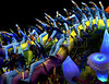 Members of the Unidos da Tijuca samba school perform at the Sambadrome during the samba school parade, Rio de Janeiro, Brazil, March 6, 2011. (Austral Foto/Renzo Gostoli)
