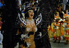 Angela Bismarchi, 36, performs at Sambadrome during the Porto da Pedra samba school parade, Rio de Janeiro, Brazil , Feb. 03, 2008.  The Porto da Pedra samba school celebrates the 100th. anniversary of the first japanese inmigration to Brazil. Bismarchi implanted, days before the parade, nylon wires to make her eyes look more Japanes, in line with Porto da Pedra's theme this year: the 100th anniversary of Japanese immigration to Brazil. (Austral Foto/Renzo Gostoli)