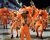 Dancers of Sao Clemente samba school perform at the Sambadrome during the samba school parade, Rio de Janeiro, Brazil, February 13, 2010.  (Austral Foto/Renzo Gostoli)