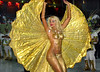 Model Angela Bismarqui performs during the Rio 2002 Carnival parade at Sambadrome, Rio de Janeiro, Brazil, Feb. 09, 2002. Bismarchi is known for her many plastic surgeries. (Austral Foto/Renzo Gostoli)