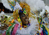 A samba dancer of Estacio de Sa samba school performs during the Rio 2009 Carnival parade at Sambadrome,  Rio de Janeiro, Brazil, Feb. 21, 2009. (Austral Foto/Renzo Gostoli)