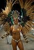 A dancer from Mocidade samba school performs at the Sambadrome during the samba school parade in Rio de Janeiro, Brazil, February 22, 2009. The Grande Rio Samba school parade pays tribute to France during Rio de Janeiro's 2009 carnival celebrations. (Austral Foto/Renzo Gostoli)