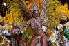 Dancer Viviane Araujo of Mocidade Independente samba school performs during the Rio 2005 Carnival parade at Sambadrome, Rio de Janeiro, Brazil, Feb. 06, 2005. (Austral Foto/Renzo Gostoli)