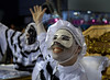Members of Vila Isabel samba school performs at Sambadrome on the first night of the Carnival samba school parade, Rio de Janeiro, Brazil , February 22, 2009.  (Austral Foto/Renzo Gostoli)