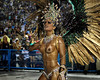 A dancer from Mocidade samba school performs at the Sambadrome during the samba school parade in Rio de Janeiro, Brazil, February 22, 2009.  (Austral Foto/Renzo Gostoli)