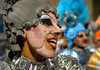 A dancer of the Imperatriz Leopoldinense samba school performs at Sambadrome, Rio de Janeiro, Brazil , Feb. 04, 2008.   (Austral Foto/Renzo Gostoli)