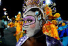 A dancer from Tuiuti samba school waits to perform at the Sambadrome during the samba school parade in Rio de Janeiro, Brazil, February 14, 2010. (Austral Foto/Renzo Gostoli)