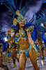 A dancer of the Vila Isabel samba school performs at Sambadrome, Rio de Janeiro, Brazil , Feb. 04, 2008.   (Austral Foto/Renzo Gostoli)