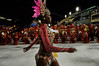 A samba dancerl performs at the Sambadrome during the samba school parade,  Rio de Janeiro, Brazil, February 8, 2013. (Austral Foto/Renzo Gostoli)