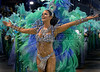 Model Luiza Brunet,  drum queen of the Imperatriz Leopoldinense samba school, performs at Sambadrome, Rio de Janeiro, Brazil , Feb. 04, 2008.   (Austral Foto/Renzo Gostoli)