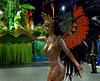 Dancer Viviane Castro of Sao Clemente samba school performs at Sambadrome, Rio de Janeiro, Brazil , Feb. 03, 2008.   (Austral Foto/Renzo Gostoli)