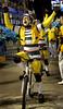 A member of the Sao Clemente samba school performs at the Sambadrome during the samba school parade, Rio de Janeiro, Brazil, March 6, 2011. (Austral Foto/Renzo Gostoli)