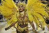 A samba dancer performs at the Sambadrome during the Beija Flor samba school parade,  Rio de Janeiro, Brazil, February 11, 2013. (Austral Foto/Renzo Gostoli)