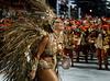 Dancer Viviane Araujo of Salgueiro samba school performs at Sambadrome, Rio de Janeiro, Brazil , February 20, 2012. (Austral Foto/Renzo Gostoli)