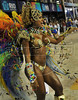 A samba dancer performs at the Sambadrome during a samba school parade,  Rio de Janeiro, Brazil, February 11, 2013. (Austral Foto/Renzo Gostoli)