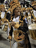 Brazilian singer Mart'nalia from Vila Isabel samba school participates as drummer at the samba school parade in the Sambadrome, Rio de Janeiro, Brazil, February 22, 2009 (Austral Foto/Renzo Gostoli)