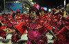 A blind reveler performs at the Sambadrome during the samba school parade,  Rio de Janeiro, Brazil, February 8, 2013. (Austral Foto/Renzo Gostoli)