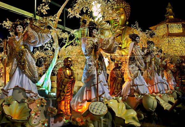 Porto da Pedra samba school performs at Sambadrome, Rio de Janeiro, Brazil , Feb. 03, 2008.  The Porto da Pedra samba school celebrates the 100th. anniversary of the first japanese inmigration to Brazil. (Austral Foto/Renzo Gostoli)