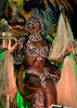 Samba dancer Dandara Machado of the Vila Isabel samba school performs at Sambadrome, Rio de Janeiro, Brazil, Feb. 04, 2008.   (Austral Foto/Renzo Gostoli)
