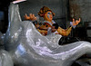 A worker prepares a float for a samba school, Rio de Janeiro, Brazil, February 3, 2010. The float will be used during the carnival parades which begin on February 12, 2010. Thousands of people work for 6 months out of the year preparing for carnival. (Austral Foto/Renzo Gostoli)