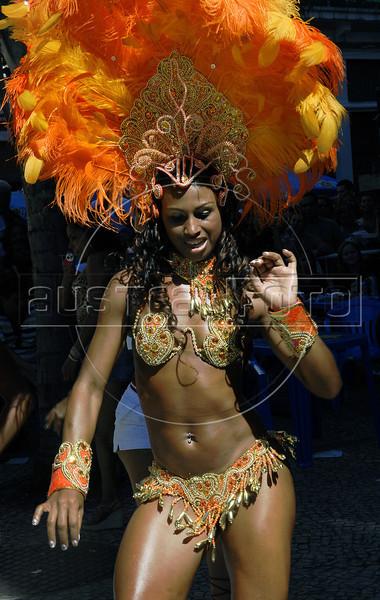Marilene Abel Norato participates at Bloco da Saara carnival queen election in a downtown street of Rio de Janeiro, Brazil, February 4, 2012. (Austral Foto/Renzo Gostoli)