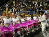 Samba dancers perform during a Renascer samba school's rehearsal at the Sambadrome, Rio de Janeiro, February 4, 2012. All week end of January and February the Rio's samba schools train in the Sambadrome for the carnival parade. The 2012 carnival start officially February 18. (Austral Foto/Renzo Gostoli)