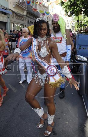 Revelers participate at carnival festivities, Rio de Janeiro, Brazil, February 26, 2011.   (Renzo Gostoli/Austral Foto)