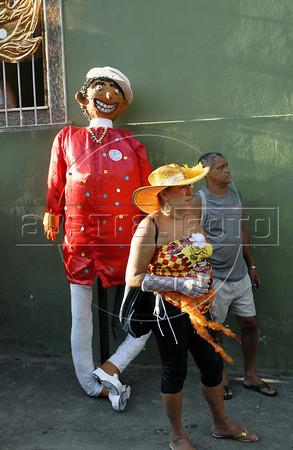 Revelers assist at carnaval festivities, Rio de Janeiro, Brazil, february 26, 2011. (Renzo Gostoli/Austral Foto)