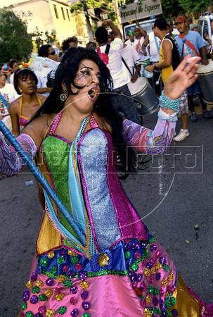 "A patient from mental health hospital Nise da Silveira, dressed as Amy Winehouse,  participates at carnival festivities of ""Loucura Suburbana"" carnival group, Rio de Janeiro, Brazil, February 16, 2012. (Austral Foto/Renzo Gostoli)"