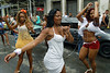 Girls participate in an afternoon street parade during a pre-carnival event in downtown neighborhood, Rio de Janeiro, Brazil, February 14, 2009. (Austral Foto/Renzo Gostoli)