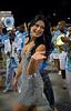 Natalia Guimaraes, Miss Brazil, participates in the rehearsal of the Vila Isabel samba school at the Sambadrome, in Rio de Janeiro, Jan 6, 2008. All Friday, Saturday and Sunday of January the Rio's samba school train in the Sambadrome for the carnival parade. The 2008 carnival start officially Feb. 2. (AUSTRAL FOTO/RENZO GOSTOLI)