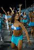 A samba dancer participates in the rehearsal of the Vila Isabel samba school at the Sambadrome, in Rio de Janeiro, Jan 6, 2008. All Friday, Saturday and Sunday of January the Rio's samba school train in the Sambadrome for the carnival parade. The 2008 carnival start officially Feb. 2. (AUSTRAL FOTO/RENZO GOSTOLI)