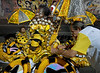 Members of Sao Clemente samba school prepare to parade at Sambadrome on the first night of the Carnival samba school parade, Rio de Janeiro, Brazil , February 13, 2010.  (Austral Foto/Renzo Gostoli)