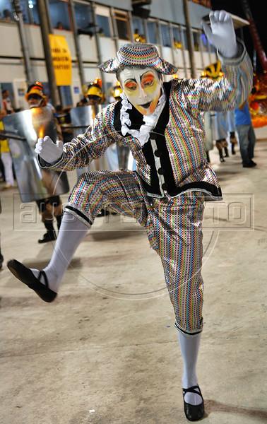 A member of Sao Clemente samba school performs at Sambadrome, Rio de Janeiro, Brazil , February 13, 2010.  (Austral Foto/Renzo Gostoli)
